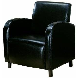 Baxton Studio Atticus Black Brown Faux Leather Modern Club