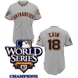 World Series Champions San Francisco Giants Baseball Jersey #18 Cain