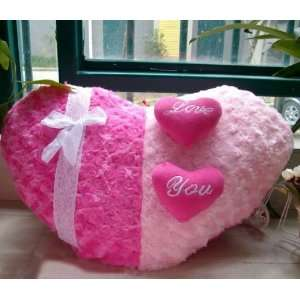 Plush Toys   Couple of Heart shaped Love Cushion Pillow