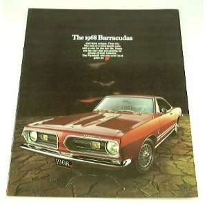 1968 68 Plymouth BARRACUDA BROCHURE Formula S Fastback