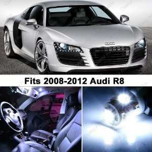 Audi R8 WHITE LED Lights Interior Package Kit (4 Pieces)