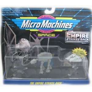 Star Wars Micro Machines Space Empire Strikes Back Tie Fighter / AT AT