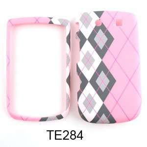 CELL PHONE CASE COVER FOR BLACKBERRY TORCH 9800 BLACK WHITE PLAID ON