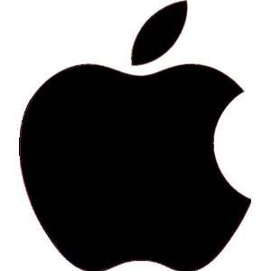 Apple black Logo Vinyl Decal