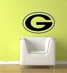 Large Green Bay Packers Logo Wall Vinyl decal Sticker