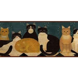 3 Rolls of Country Cats Wallpaper Border   Linda Spivey
