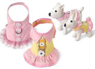 Dog Clothes Yellow & Pink Daisy Harness Dress 2  5 LBS