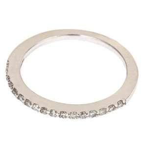 14K White Gold Diamond Wedding Anniversary Band Ring 0.22ct 6 (SI
