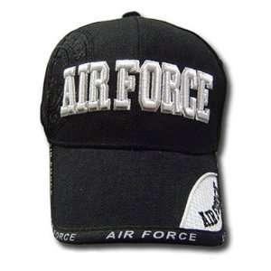 USA US AIR FORCE MILITARY BLACK VELCRO HAT CAP OSFA NEW