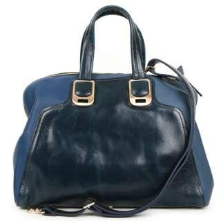 KOREA]Genuine leather color block DARIA satchel, shoulder bag, handbag