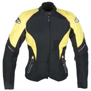 Joe Rocket Luna 2.0 Womens Textile Motorcycle Jacket Yellow/Black
