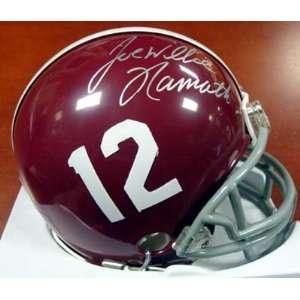 Joe Willie Namath Autographed Alabama Mini Helmet PSA/DNA