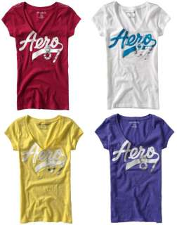 LOT OF 4   Aeropostale LOGO T shirts Tee top S,M,L,XL