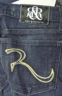 ROCK & REPUBLIC STELLA STRAIGHT JEANS 26 27 28 29 30 31 32 ~NEW WITH