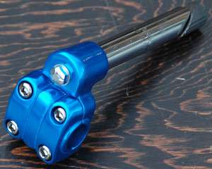 Blue Alloy 7/8 22.2mm Old School BMX Bike 4 Bolt Quill Stem Cruiser