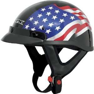 Freedom Adult FX 70 Harley Touring Motorcycle Helmet   Black / X Large