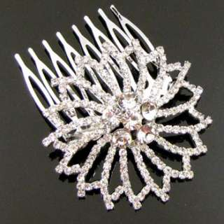 Item  1 pc Austrian rhinestone fashion hair comb bridal