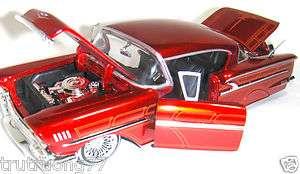 Jada Toys 1 24 Street Low Rider 1958 58 Chevy Impala Chevrolet Red