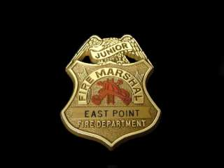 EAST POINT GA JUNIOR FIRE MARSHALL BADGE ~ FIRE DEPARTMENT