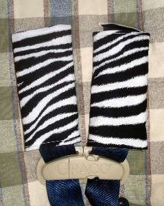 SALE CAR SEAT BELT STRAP COVERS FITS BRITAX ZEBRA PRINT
