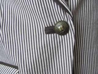 New BCBG MAX AZRIA Brown Tan Button Vest Large L NWT