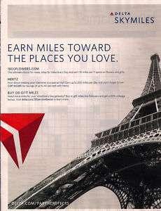 DELTA AIRLINES PARIS EIFFEL TOWER SKYMILES AD