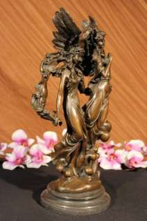 Auguste Moreau Guardian Angels Bronze Sculpture Marble Figurine Deco