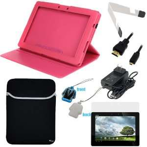 in Stand + Neoprene Sleeve Case + LCD Screen Protector + Micro HDMI