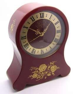 LeCoultre Petite Neuchateloise Musical Alarm Clock , 5 Tall, Red