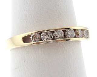 Genuine Diamonds Solid 14k Yellow Gold Band Ring