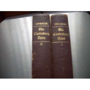 The Canterbury Tales. Two volume set Books