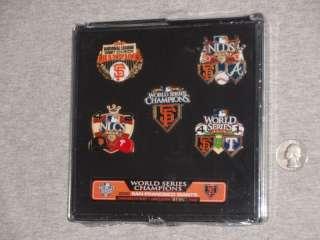San Francisco Giants World Series Champions 5 Pin Set