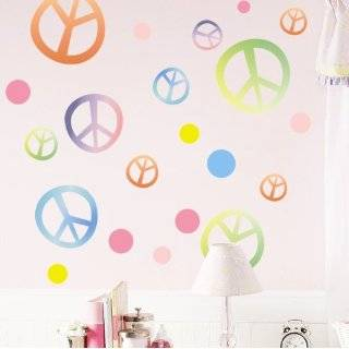 Peace Signs Decorative Wall Art Sticker Decals for Girls/Babies
