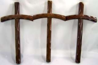 LOT 3   10 Beveled Wood Wall Cross Curved Wooden Individual Gift Box