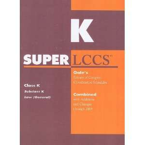 SUPERLCCS 09 Schedule K (SUPERLCCS Schedule K Law