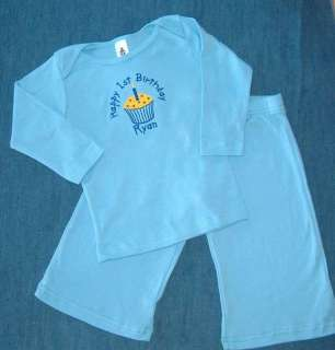 Personalized Boys 1st Birthday Cupcake Shirt OUTFIT