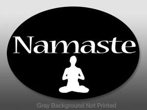 Oval Namaste Yoga Sticker  window stickers decal decals