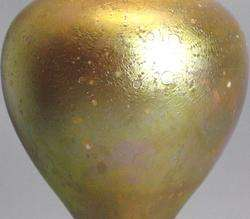 Rare & Early Tiffany Cypriote Art Glass Lamp c. 1900