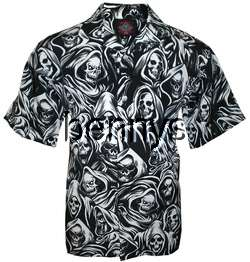 New Grim Reaper All Over biker shirt, Dragonfly, XL