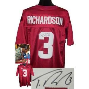 Trent Richardson signed Alabama Crimson Tide Maroon Nike