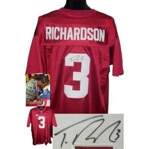 Trent Richardson signed Alabama Crimson Tide Maroon Nike