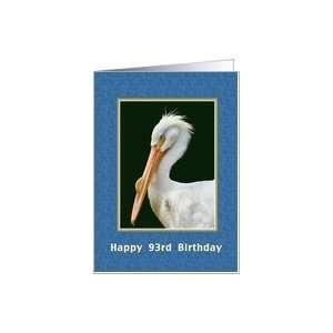 Birthday, 93rd, American White Pelican Bird Card Card Toys & Games