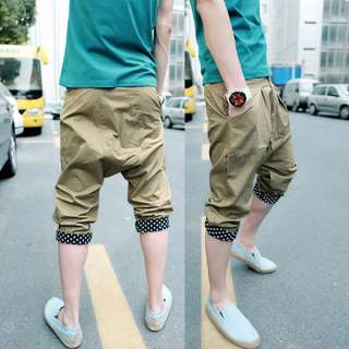 Mens Fashion Harem Sport Middle Cropped Trousers Pants MCH1094