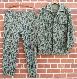 MARINE CORPS HBT DUCK HUNTER CAMO MILITARY UNIFORM SHIRT PANTS