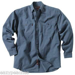 DRI DUCK Mens Size CLR Long Sleeve FISH CAMP Work Shirt