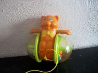 1978 FISHER PRICE Rolling Bear Baby Pull Toy #642