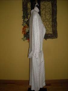 ASHLEY SCOTT full length dress coat/blazer semi sheer beiges ivory