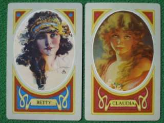 ARMSTRONG & CLAUDIA BY ? PINUP ART DECO PLAYING CARDS VINTAGE MINT