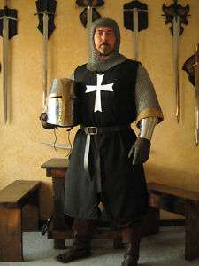 Medieval Knight Hospitaller Crusader Surcoat with Cross