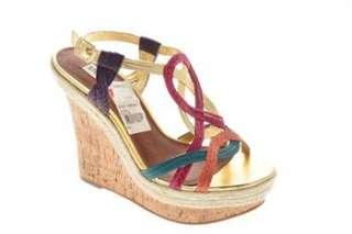 Steve Madden NEW Cereall Womens Wedges Sandals Gold Medium BHFO 11